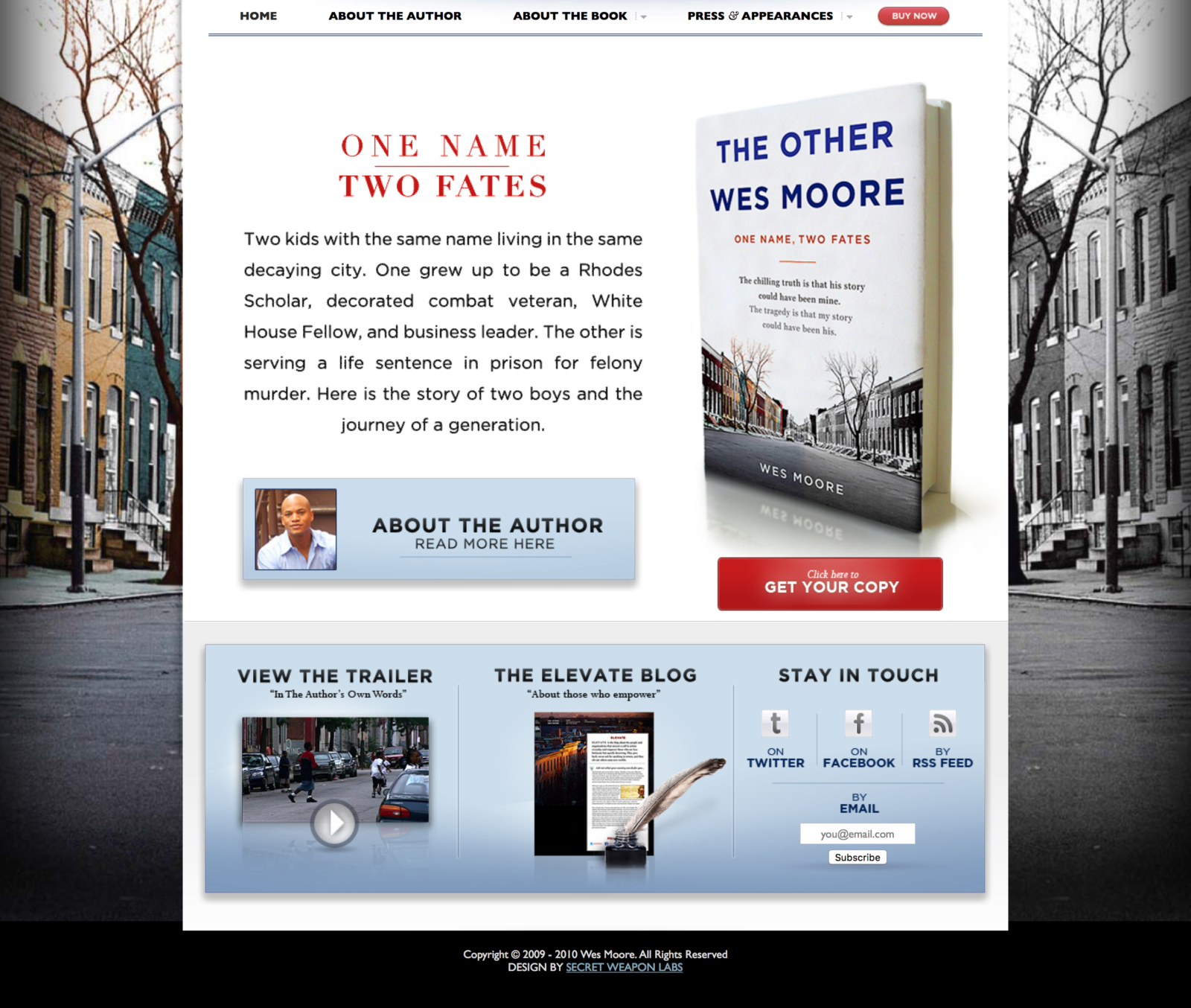 The Other Wes Moore | The official home page of Westley Moore and home page for the book The Other Wes Moore